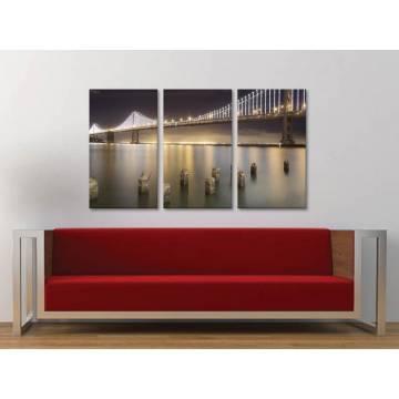 Három részes vászonkép - Nighttime bridge - éjszakai híd 3a-100184