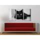 Három részes vászonkép - The black cat legend - fekete macska vászonkép 3a-100188