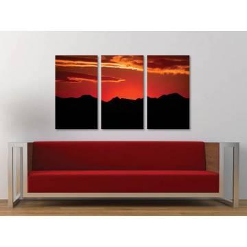 Három részes vászonkép - Sunset silhouette - naplemente - vászonkép 3a-100212