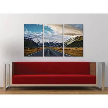 Három részes vászonkép - Mountain road - út a hegyekhez vászonkép 3a-100219