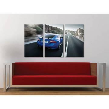 Három részes vászonkép - Jaguar XK RS5 - autós vászonkép 3a-100235