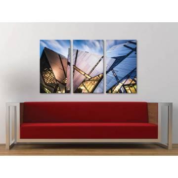 Három részes vászonkép - Abstract in architecture - absztrakt építészet 3a-100254