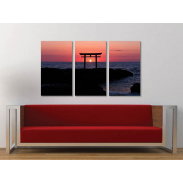 Három részes vászonkép - In the center - naplemente - vászonkép 3a-100255