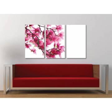 Három részes vászonkép - Simply beautiful - magnolia vászonkép 3a-100285