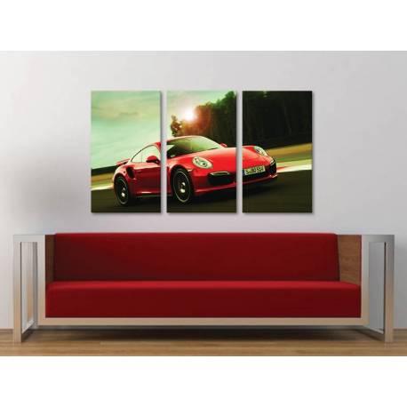 Három részes vászonkép - The classical - Porsche 911 - autó vászonkép 3a-100286
