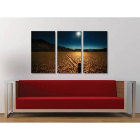 Három részes vászonkép - Beautyful lights in night - az éjszaka fényei a sivatagban vászonkép 3a-100296 - 1