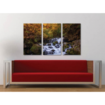 Három részes vászonkép - Mountain water - hegyi patak vászonkép 3a-100311