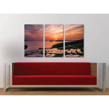 Három részes vászonkép - Magical sunset - mesés naplemente vászonkép 3a-100312