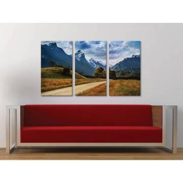 Három részes vászonkép - Road to mountains - út a hegyekbe vászonkép 3a-100326