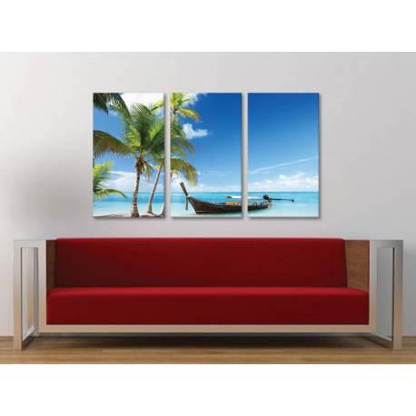 Három részes vászonkép - The islands and dreams - álmok tengerpartja - 3a-100333