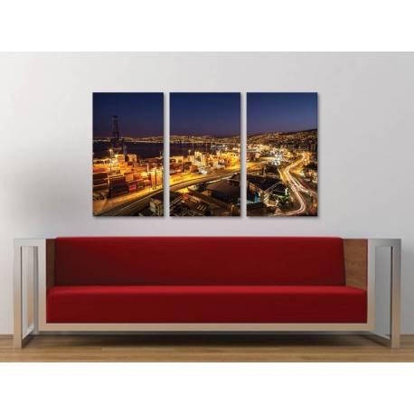 Három részes vászonkép - The lighting port - a kikötõ fényei vászonkép 3a-100339