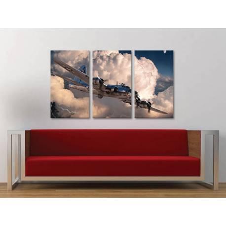 Három részes vászonkép - Above the sky - a felhõk felett - vászonkép 3a-100353 - 1