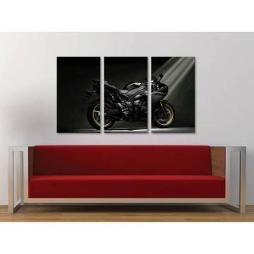 Három részes vászonkép - Yamaha YZF - motoros vászonkép 3a-100355
