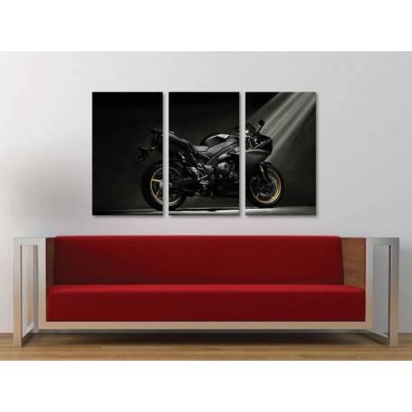 Három részes vászonkép - Yamaha YZF - motoros vászonkép 3a-100355 - 1