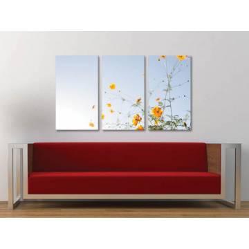 Három részes vászonkép - Clean and simply flower - sárga virágok - vászonkép 3a-100357