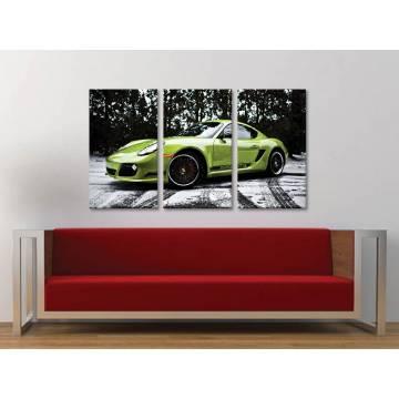 Három részes vászonkép - Porsche Cayman - autós vászonkép 3a-100360