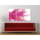 Három részes vászonkép - Pink Feather - tollpihe vászonkép 3a-100370