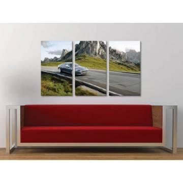 Három részes vászonkép - Freedom between mountains - autós vászonkép 3a-100381