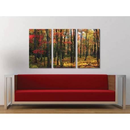 Három részes vászonkép - Autumn trees - õszi fák vászonkép 3a-100383 - 1