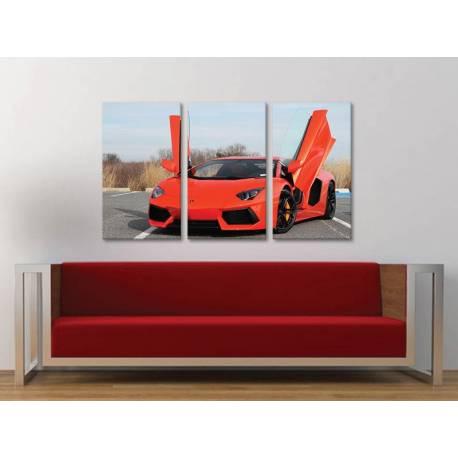 Három részes vászonkép - Aventador - sportautó vászonkép 3a-100384