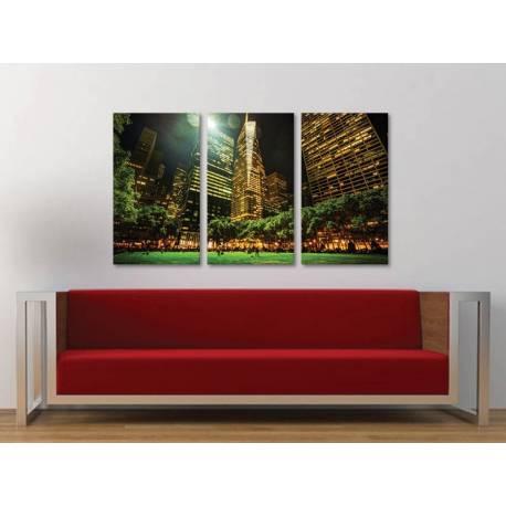 Három részes vászonkép - Bryant park - New York vászonkép 3a-100402 - 1