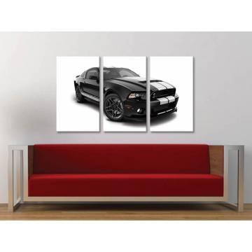 Három részes vászonkép - Power of Mustang - autós vászonkép 3a-100403