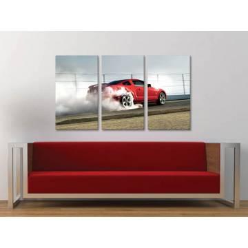Három részes vászonkép - Drifting tires - autós vászonkép 3a-100408