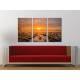 Három részes vászonkép - Burning Sunset - naplemente vakrámás vászonkép - 3a-100430 - 1