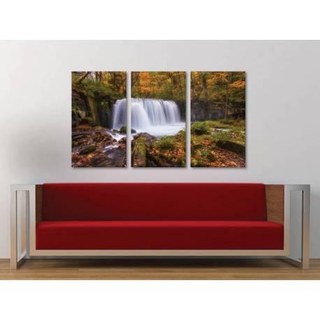Három részes vászonkép - Natural Water Curtain - Vízesés Vászonkép 3a-100455 - 1
