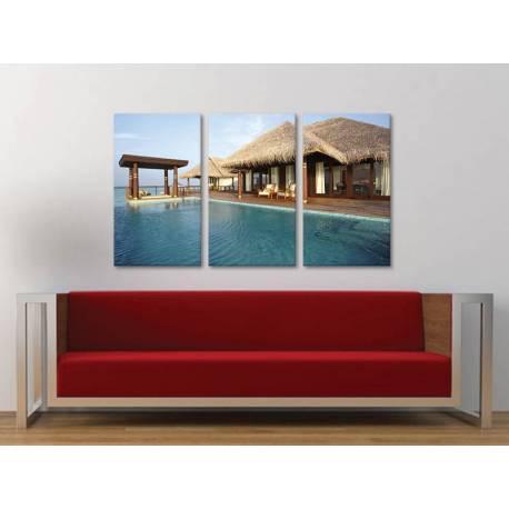 Három részes vászonkép - Just Relax - Kikapcsolódás a Tengerparton - vászonkép 3a-100480 - 1
