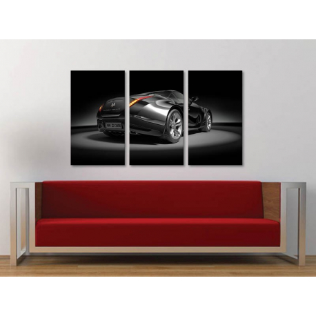 Három részes vászonkép - Black Dream - Conception - Fekete Álom - autós vászonkép - 3a-100474
