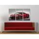 Három részes vászonkép - The Red Monster - Honda - Autós vászonkép 3a-100479 - 1