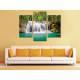 Három részes vászonkép - Beautyfull waterfall - vízesés vászonkép 3a-100214